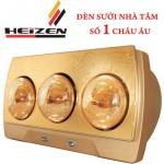 Đèn sưởi nhà tắm Heizen 3 bóng vàng HE-3B