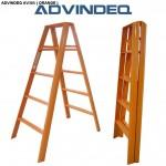 Thang nhôm chữ A Đài Loan 10 bậc ADVINDEQ AV305 ( Orange )
