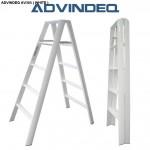Thang chữ A advindeq AV305 (10 bậc, màu trắng)