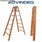 Thang chữ A advindeq AV307 (14 bậc, màu cam)