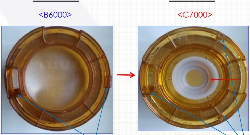 Sự khác nhau giữa Kuvings C7000 và B6000 ở chốt khóa
