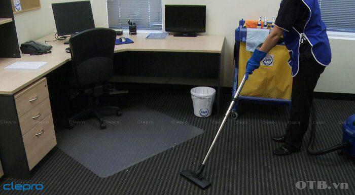 Máy hút bụi Clepro CP-101 được ứng dụng làm sạch trong văn phòng