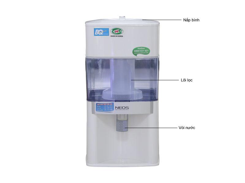 Cấu tạo Bình lọc nước CNC NEOS 12L