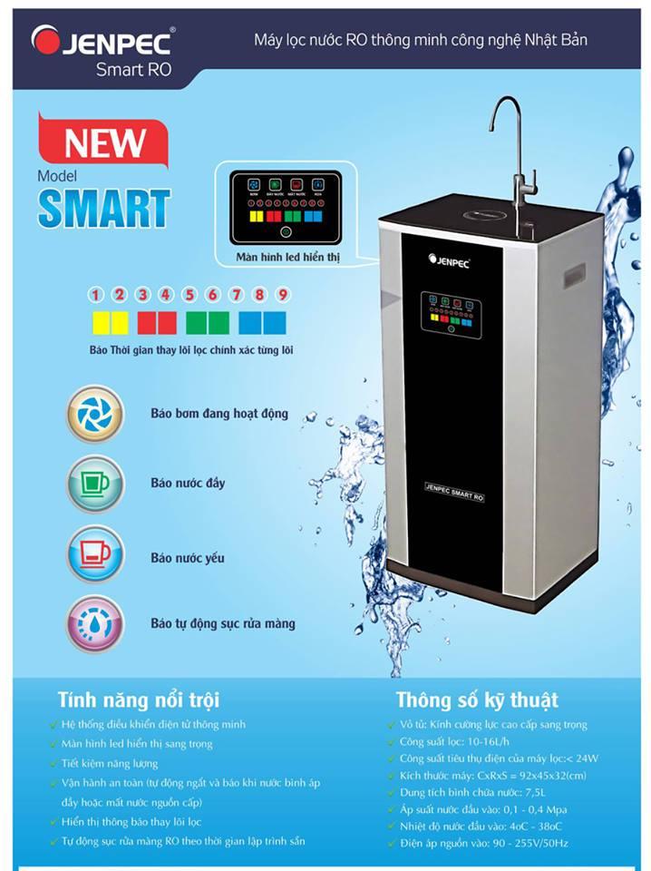 Tính năng nội bật của Máy lọc nước RO Jenpec Smart I-9000 (09 cấp, thông minh, có tủ)